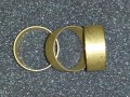 "Bands - Brass - *Un-Polished*  1.25"" x .5"" (10 pack)"
