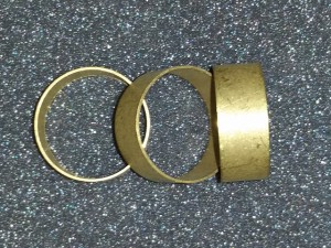 "Bands - Brass - *Un-Polished*  .4"" long x 1.25"" x .5"" (10 pack)"